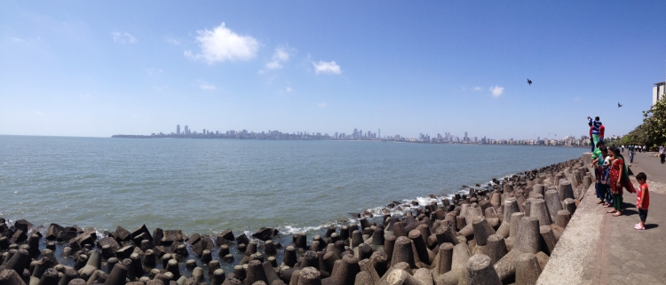 Looking @ Malabar Hills from Nariman Point