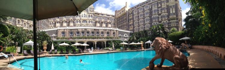 Taj Mahal Palace pool area - very relaxing
