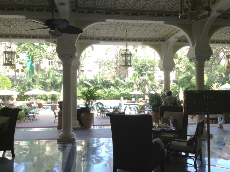lovely colonial veranda at the pool