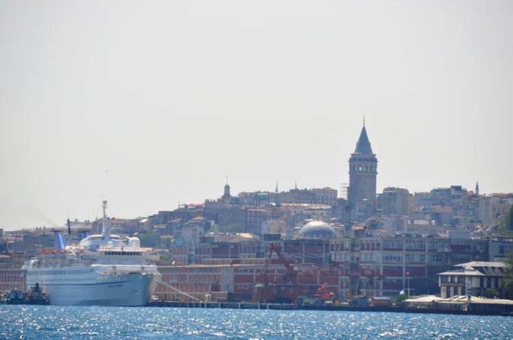 Beyoglu and Galata Tower from the ferry