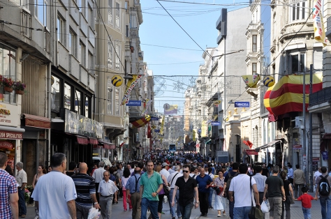 Busy Istiklal Cadessi would only get busier