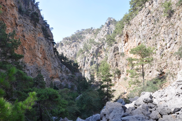 Agia Irini Gorge: not a straightforward walk down a flat, rock-less path.