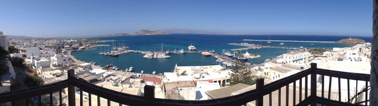 Naxos Chora from the Venetian Castle in the fort