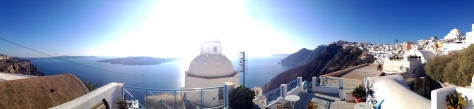 Fira, Santorini (see - the sun is too bright!)