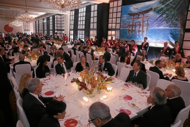 The dining room at the Gourmet Festival finale gala