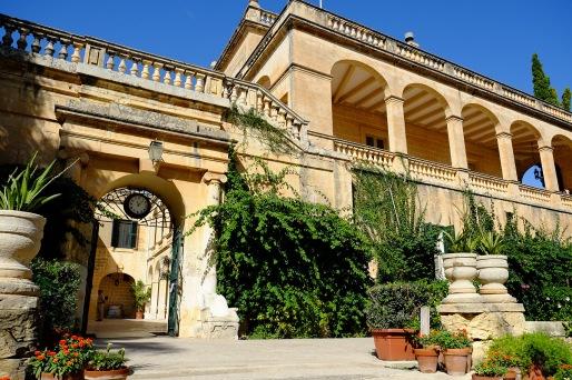 San Anton Palace entrance from San Anton Gardens (© Laurel Munshower)