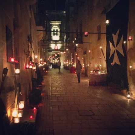 Birgu (Vittoriosa) in all its candlelit glory for Birgufest
