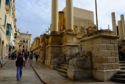 Valletta's open theater, on the former opera house site