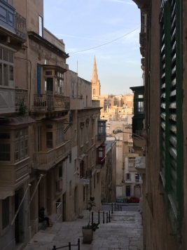 Valletta's steep, old streets