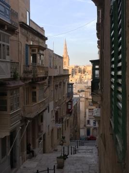 Valletta's steep, old streets